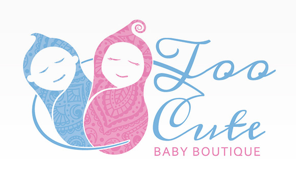 Too Cute Baby Boutique Logo Squigloo
